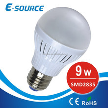 9W plastic LED lamp bulbs SMD2835 Aluminium PCB with good heating bulbs led
