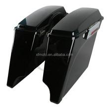 """5"""" Vivid Black Extended Saddlebag For 1993-2013 Harley Touring Model FLH FLT New"""