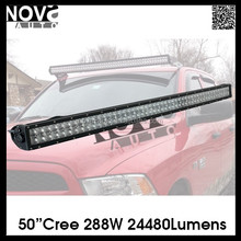 NOVA-AUTO Hottest AUTO Parts 288W 50inch Offroad Bull Bar LED Light Bar Car Accessories Made in China