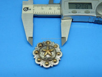 Jenly 2015 DIY Leathercraft Hardware 1-1/4''(32mm) Texas Star Berry Concho Antique Silver & Gold Plated