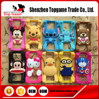 Cartoon characters universal silicon bumper case for iphone and samsung
