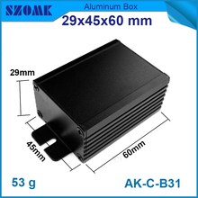 aluminium enclosure in black color for pcb and electronic components from distribution and instrument