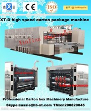 XT-D high speeding paperboard lead edge feeding four colors printer slotter and die cutter/carton packing machine