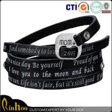 Wholesale latest design mothers day gifts cheap/ best selling leather bracelet mothers day gifts cheap
