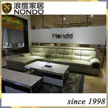 L shape top grain leather sofa designs AA083