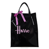 Custom made PVC vinyl shopping bag shiny shopper tote harrod customized bag high quality