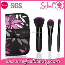 sofeel Christmas gift 3pcs with bag cosmetics brushes kit