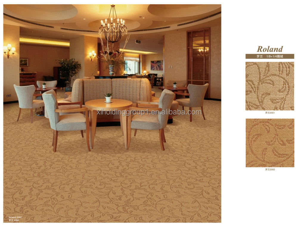 Polypropylene cut pile wall to wall commercial carpet roll for Wall to wall carpet cost