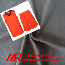 100% cotton fabric for basketball jersey fabric cotton single jersey price