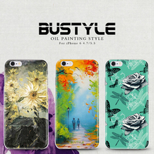 High quality 3D oil painting pattern silicon PC mobile case cover for iphone 6 plus for iphone 6