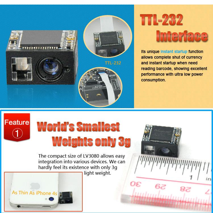 LV3080 mini barcode printer