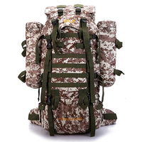 Camouflage Backpack 80L Shoulders Mountaineering Bags Tactical Backpack Camping Daypack