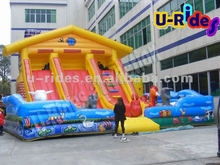2015Happy Farm inflatable jumping castle Inflatable castle