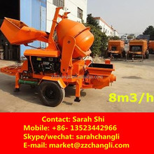 New Product!! 8m3/h Mini Concrete Mixing and Pumping Machine with Diesel Engine