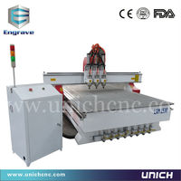 5*10 feet 3.0kw pneumatic cylinder tool changer china cnc router machine