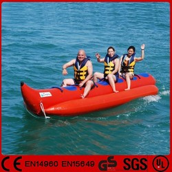 Good quality single tube 4-10 person inflatable banana boat for sale