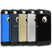 Tough Armor Shockproof TPU Bumper Case For Apple iPhone 5S 5 With Screen Protector