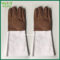 Cheap welding working /cowsplit leather safety gloves