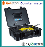 """7Inch Wireless Video Snake Endoscope Pipe Sewer Walls Vehicles Inspection Camera DVR System 3.5"""" Monitor,512hz Sonde&Receiver"""