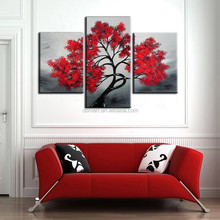 High Quality Group Painting Abstract White Black Red Oil Painting
