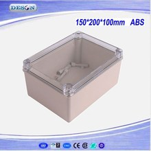 150*200*100mm Electrical ABS/PC IP66 Waterproof Enclosure With Clear Cover , Waterproof Box Series DS-AT-1520