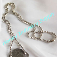"Wholesale 30"" Nickel Color Metal Beaded Chain Lanyards"