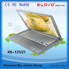 shiny roll cover dual core 13.3inch Android laptop front webcam 3g bluetooth embedded touch pad keyboard Chinese brand laptop