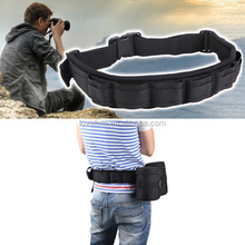 DSLR SLR Camera Padded Bag Cover Strap Waist Belt Holder Lens Case