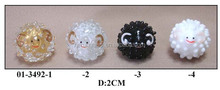 cute hand made glass smiling sheep for decoration