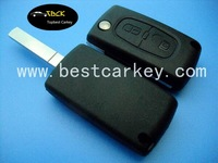 2 button remote key case no logo for Peugeot 307 car key case