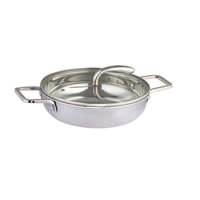 Mirror polishing small stainless steel fry pan