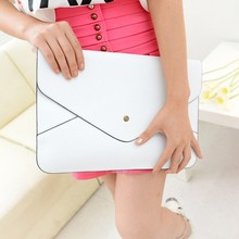 Fashion Women Envelope Clear Clutch Bag Faux Leather Hand Bag SV018586