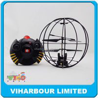 The best welcome gifts Mini r/c toy 3.5CH remote control flying ball with gyro