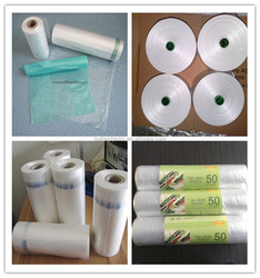 customized produce flat bag, cheap and good plastic food flat bag on roll in shandong china