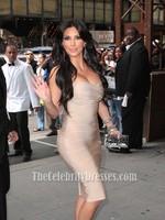 Celebrity Inspired Kim Kardashian Figure Hugging Strapless Women Bandage Dress