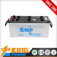 good quality N150 dry charge auto battery 12V150AH with low prices
