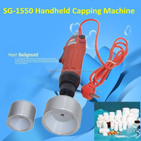 Free Shipping,Electric Hand Held Bottle Capping Machine+ Spring Balancer+ 4 Silicon Rubber insert 10-50mm