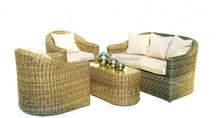 2015 Outdoor Wicker Antique Furniture 4pcs Classic Sofa Set