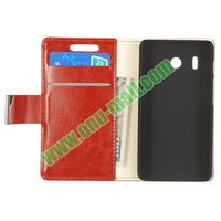 Crazy Horse Texture wallet leather flip case for huawei ascend y320
