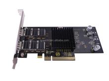Dual-port multimode PCI-E X4 Gigabit fiber NIC/SPEEDNT PN:UK-A2GFS