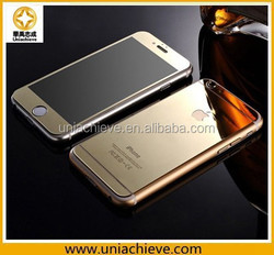 Luxury Motomo Aluminum Metal Back Cover Case for iPhone 6/ iPhone 6 plus with tempered glass front