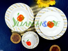 Round shape porcelain dinnerware set & tableware