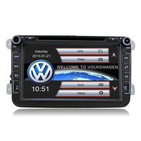 "8"" HD Hi-fi Car GPS for VW SEAT SKODA PASSAT TIGUAN TOURAN EOS CADDY GOLF 5 6 T5 with original UI DJ8015"