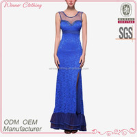 fashionable sexy sleeveless lace design pictures formal dresses women