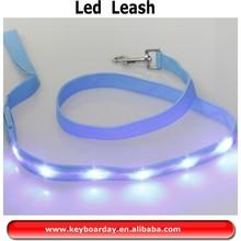 FLashing Wholesale LED dog leash/braided nylon rope dog leash