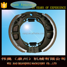 2015 China brake lining excellent performance WH353 motorcycle brake shoe