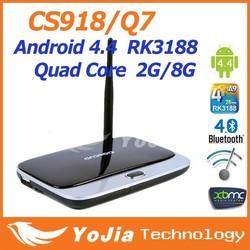 XBMC fully loaded MK888 Q7 cs918 android 4.4.2 1GB/2G+8G RK3188 Quad core tv box cs918
