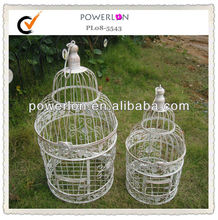 S/2 round decorative vintage metal bird cages