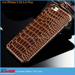 High Quality Crocodile Pattern TPU Cover Case for iPhone 5 5S 6 6 Plus