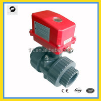 pvc electric actuator ball valve chemical resistant ball valve, electric valve for industrial water working system